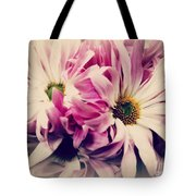 Antique Pink And White Daisies Tote Bag