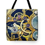 Antique Pocket Watch Gears Tote Bag