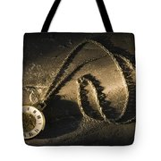 Antique Pocket Watch On Chain Tote Bag