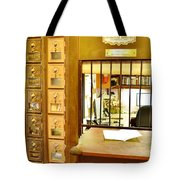 Antique Post Office Letter Boxes At The Boardwalk Plaza In Rehoboth Beach Delaware Tote Bag