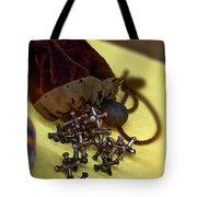 Antique Pouch Of Ball And Jacks Game Art Prints Tote Bag