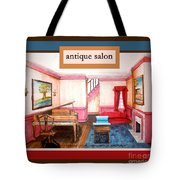 Antique Salon - Colonial Red And Blue Tote Bag
