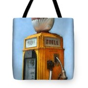 Antique Shell Gas Pump Tote Bag