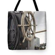 Antique Ship Steering Wheel Tote Bag