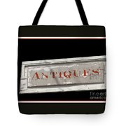 Antique Sign Tote Bag