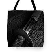Antique Sword Black And White Tote Bag