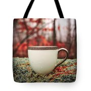 Antique Teacup In The Woods Tote Bag by Edward Fielding