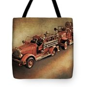 Antique Toy Fire Trucks Tote Bag