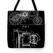 Antique Tractor Patent Tote Bag