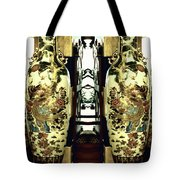 Antique Vases In The Interior Oil Painting On Canvas Tote Bag