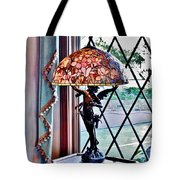 Antique Victorian Lamp At The Boardwalk Plaza - Rehoboth Beach Delaware Tote Bag