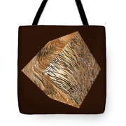 Antique White Gold Abstract Cube Tote Bag