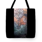 Antique Windmills At Dusk Tote Bag