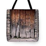 Antique Wood Door Damaged Tote Bag