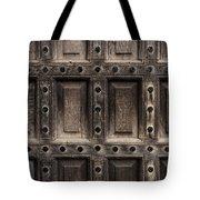 Antique Wooden Door Closeup Tote Bag