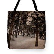 Antique Woodscape Tote Bag