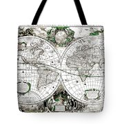 Antique World Map Poster Tote Bag