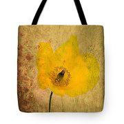 Antique Yellow Flower Tote Bag