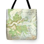 Antique Yosemite National Park Map Tote Bag