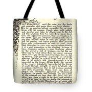 Antiqued Charcoal Desiderata Tote Bag