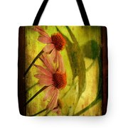 Antiqued Cone Flowers Tote Bag