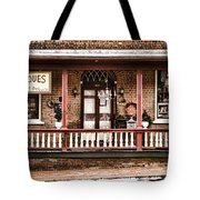 Antiques Bought And Sold Tote Bag by Heather Applegate