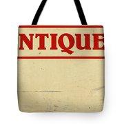 Antiques Sign Tote Bag