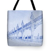 Antwerp Railway Bridge Blueprint Tote Bag