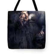 Anxious Australian Sas Soldier On Night Watch Tote Bag