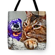 Anya And Friend Tote Bag