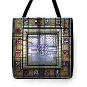 Anzac Day 2014 Auckland War Memorial Museum Stained Glass Roof Tote Bag