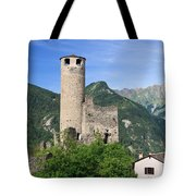 Aosta Valley - Chatelard Ruins Tote Bag
