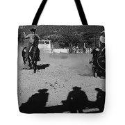 Apache Roping Cow Labor Day Rodeo White River Arizona 1969 Tote Bag
