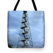 Apalachee Fire Tower In Morgan County Tote Bag