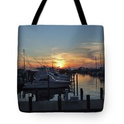 Apalachicola Marina At Sunset Tote Bag