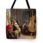 Apelles Painting The Portrait Of Campaspe Tote Bag