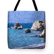 Aphrodites Rock Cyprus Tote Bag