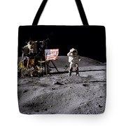 Apollo 16 Lunar Landing Astronaut Young Tote Bag
