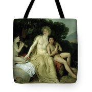 Apollo With Hyacinthus And Cyparissus Singing And Playing, 1831-34 Oil On Canvas Tote Bag