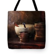 Apothecary - Pick A Pestle  Tote Bag by Mike Savad