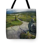 Appalachian Trail Mountain Path Saddleback Maine Tote Bag