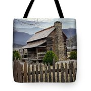 Appalachian Mountain Cabin Tote Bag by Randall Nyhof