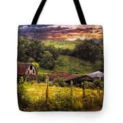 Appalachian Mountain Farm Tote Bag by Debra and Dave Vanderlaan