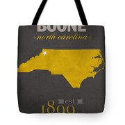 Appalachian State University Mountaineers Boone Nc College Town State Map Poster Series No 010 Tote Bag
