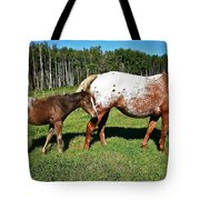 Appaloosa Mamma And Baby Tote Bag