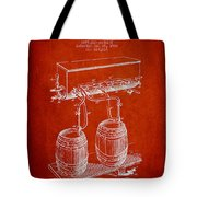 Apparatus For Beer Patent From 1900 - Red Tote Bag