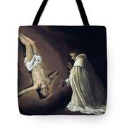 Apparition Of Apostle Saint Peter To Saint Peter Nolasco Tote Bag