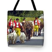 Appenzell Parade Of Cows Tote Bag