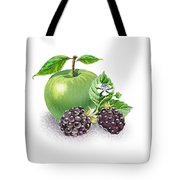 Apple And Blackberries Tote Bag