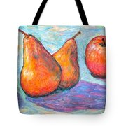 Apple And Pear Twirl Tote Bag